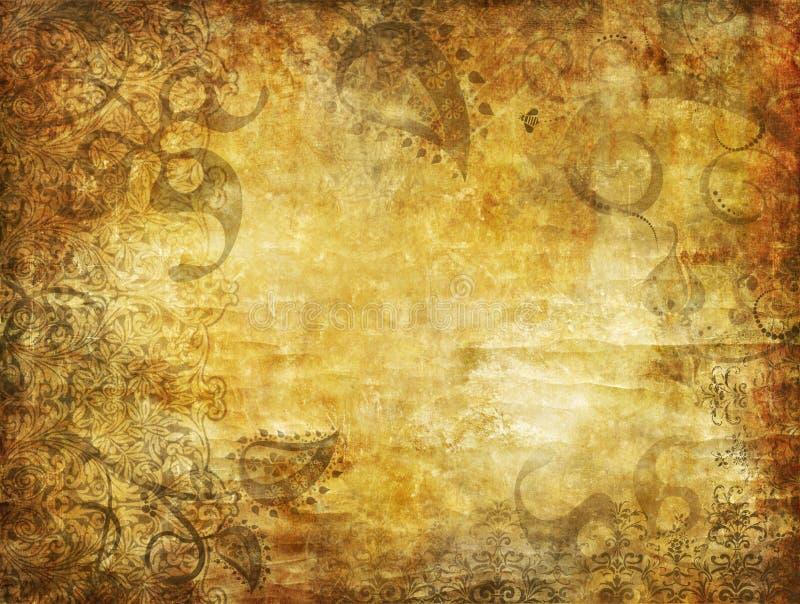 grunge ornamentacyjny tła ilustracja wektor