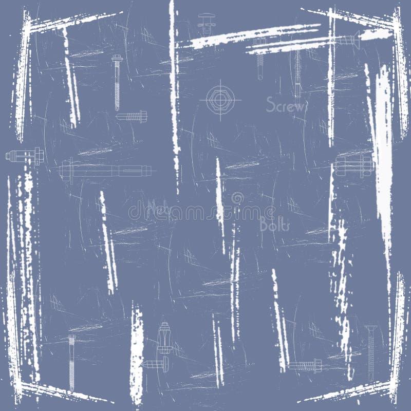 grunge orzechy ilustracji
