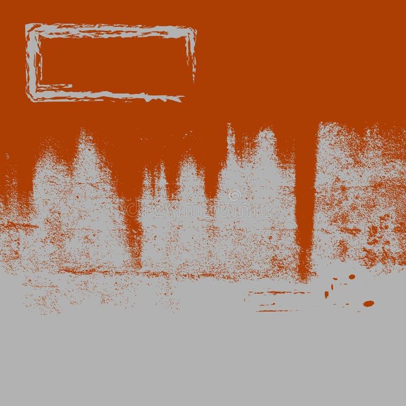 Grunge oxidado Bkgrnd & quadro ilustração do vetor