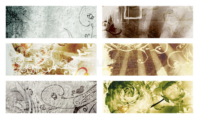 Grunge page with texture and designs stock illustration
