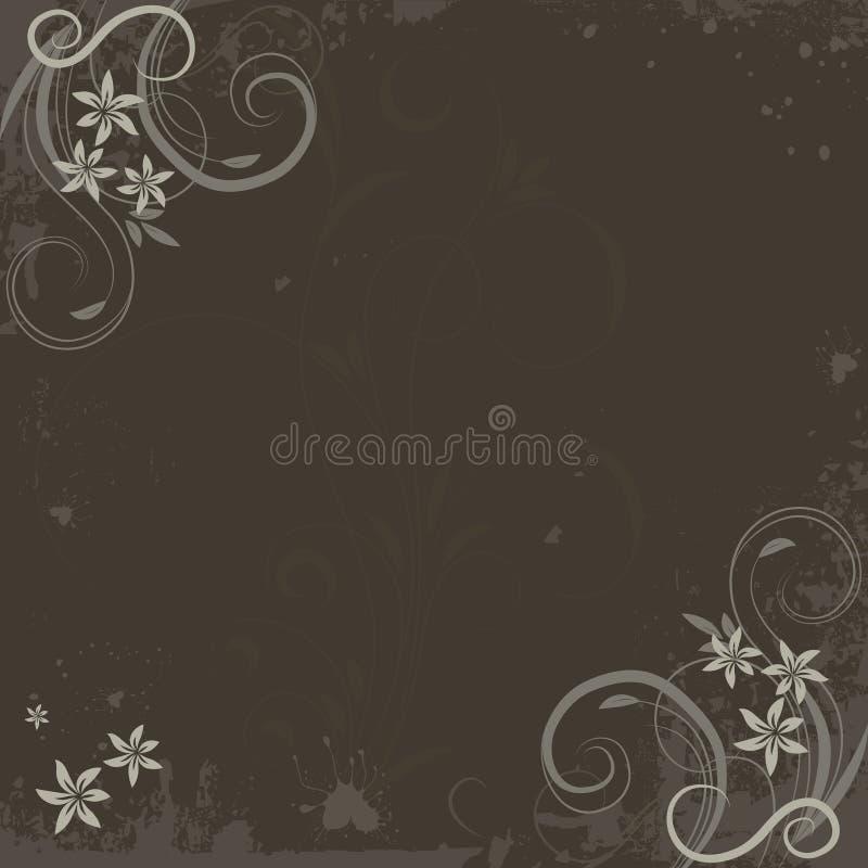 Grunge paint flower background royalty free illustration