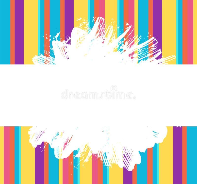 Grunge paint splash and strokes rainbow color banner vector illustration