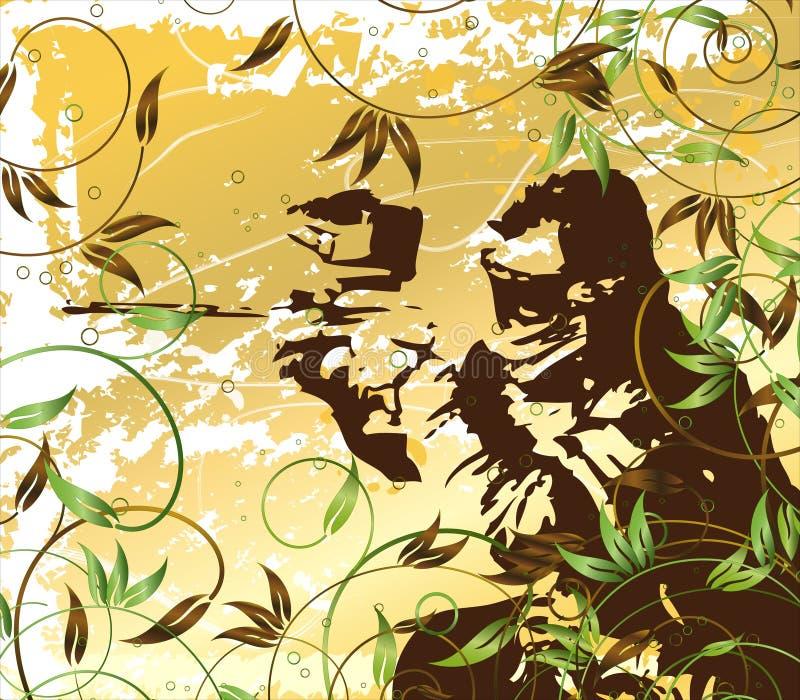 grunge paintball royalty ilustracja