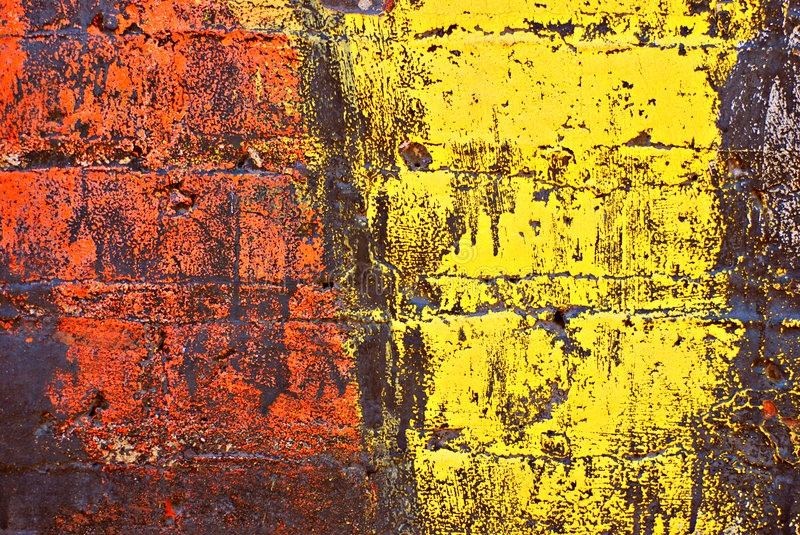 Grunge Painted Brick Wall royalty free illustration