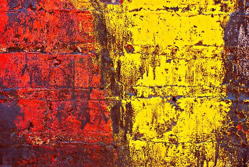 Grunge Painted Brick Wall Royalty Free Stock Photo