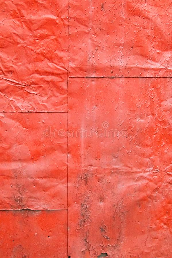 Grunge painted red metal sheets royalty free stock image