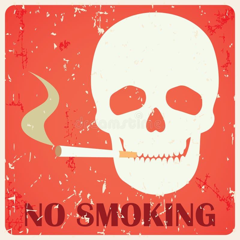 Grunge palenie zabronione znak ilustracja wektor