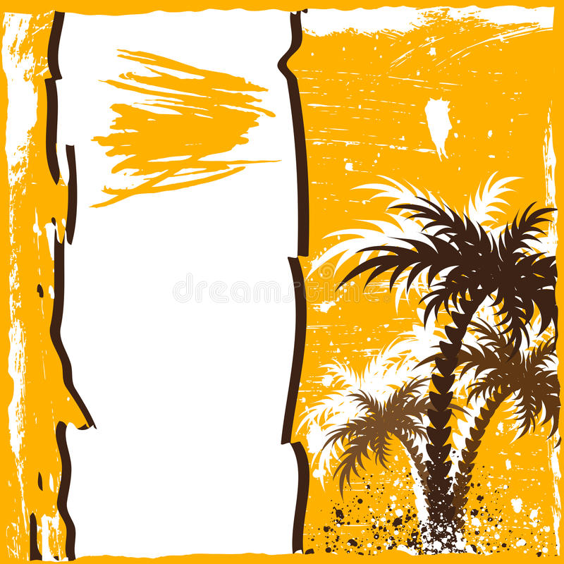 Download Grunge palm stock vector. Illustration of yellow, grungy - 10117908