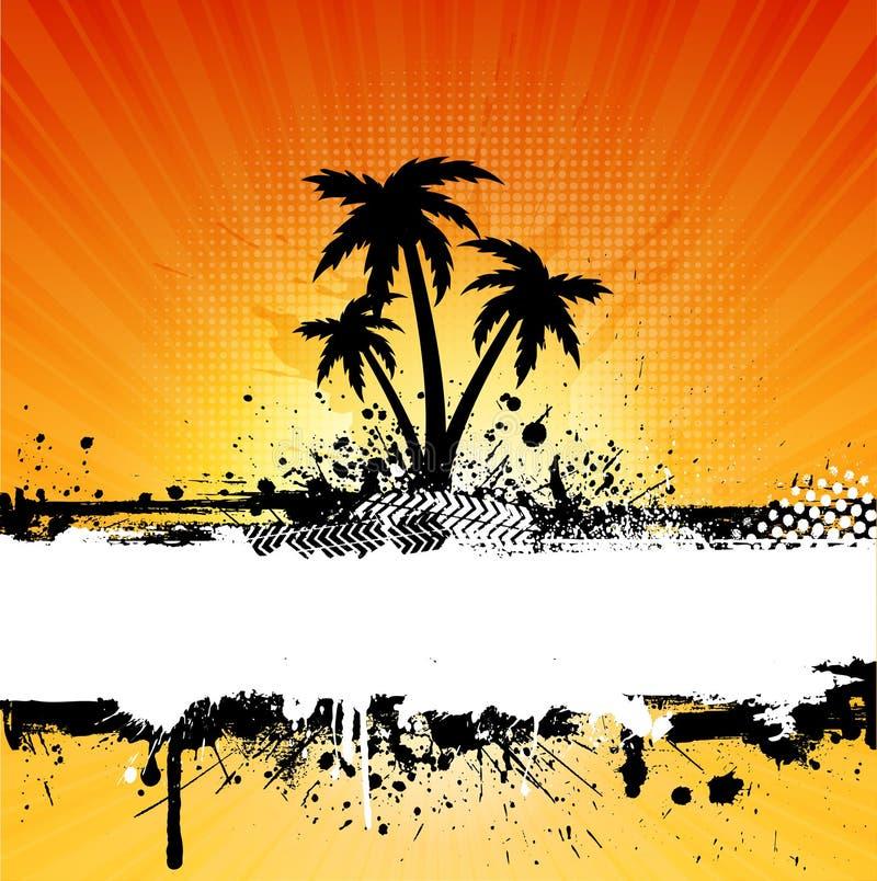 Grunge palm trees background royalty free illustration
