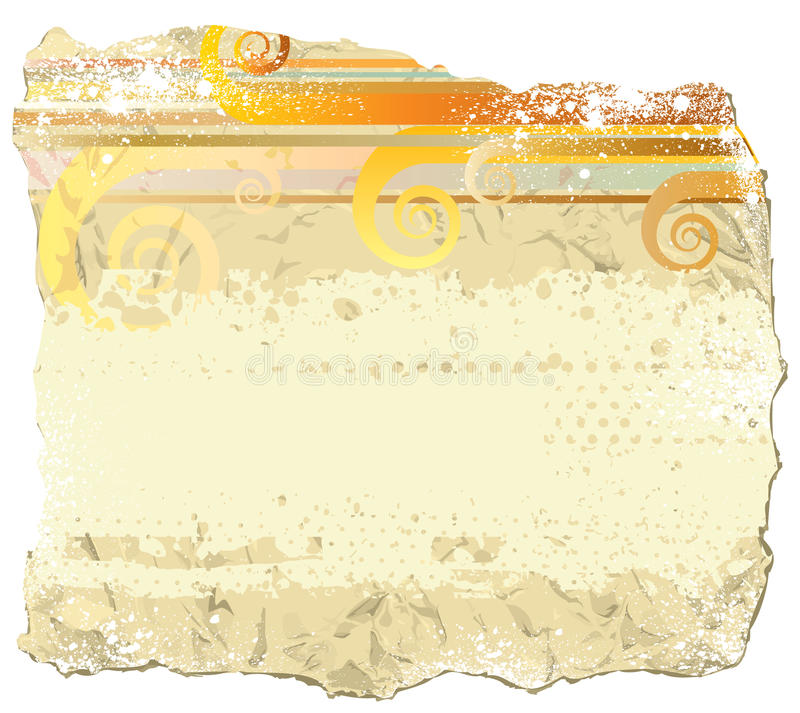 Download Grunge paper stock vector. Image of decorative, dots - 15672808