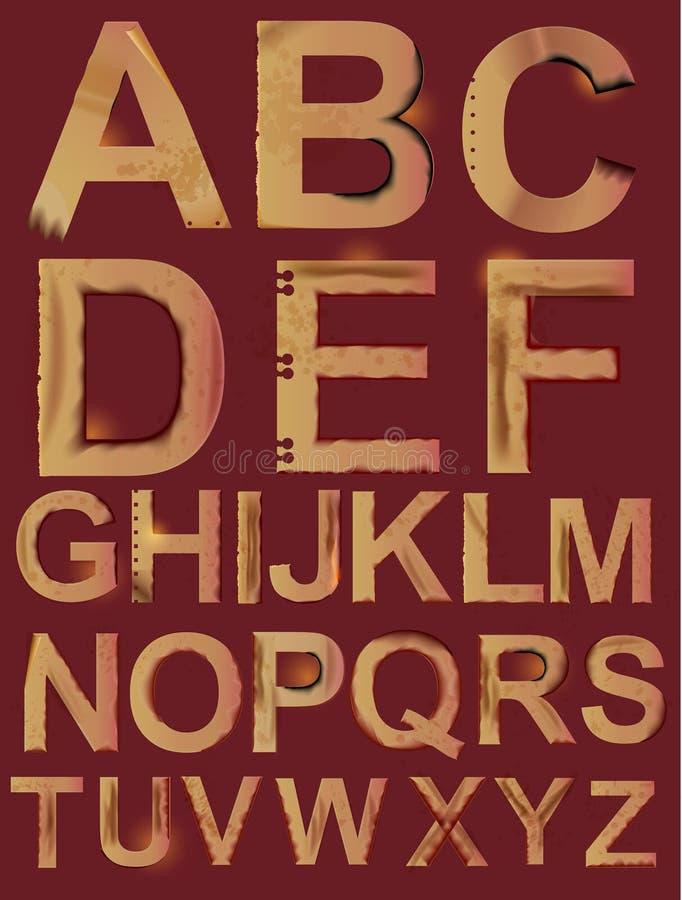 Grunge paper alphabet