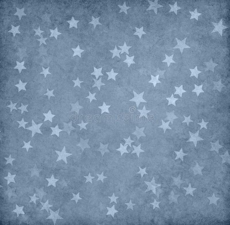 Grunge paper decorated with stars royalty free stock photo