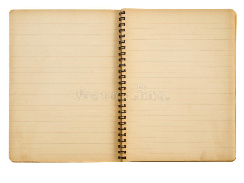 Download Grunge paper notebook stock photo. Image of business - 16800630