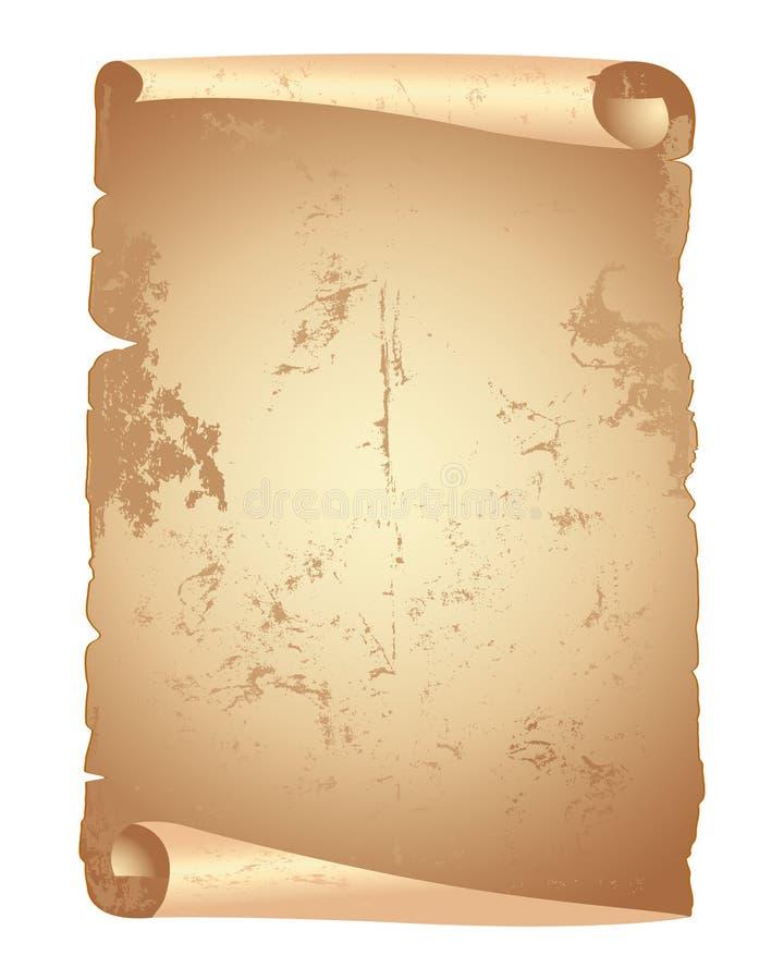 Grunge paper scroll. vector illustration