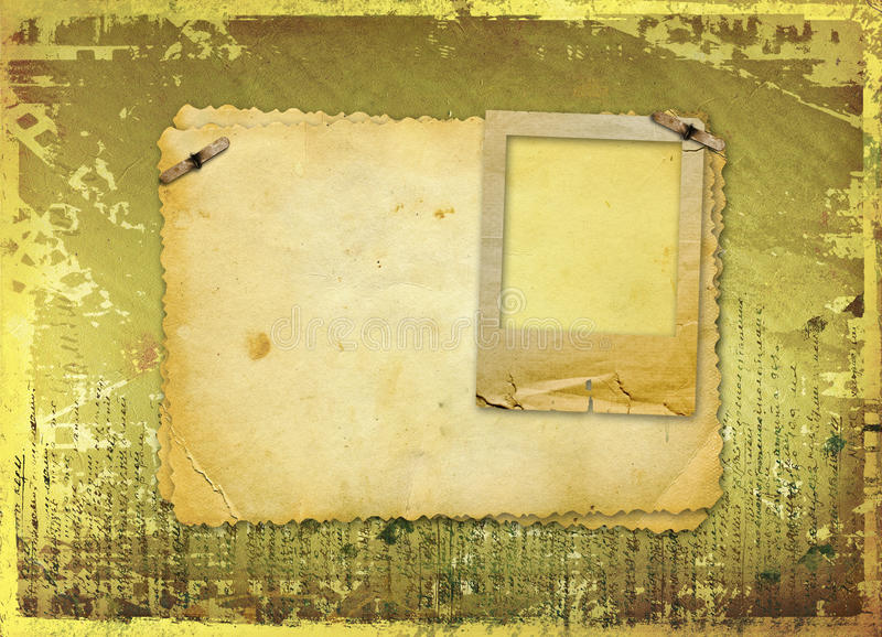 Download Grunge Papers Design With Blank For Text Stock Illustration - Image: 23387738