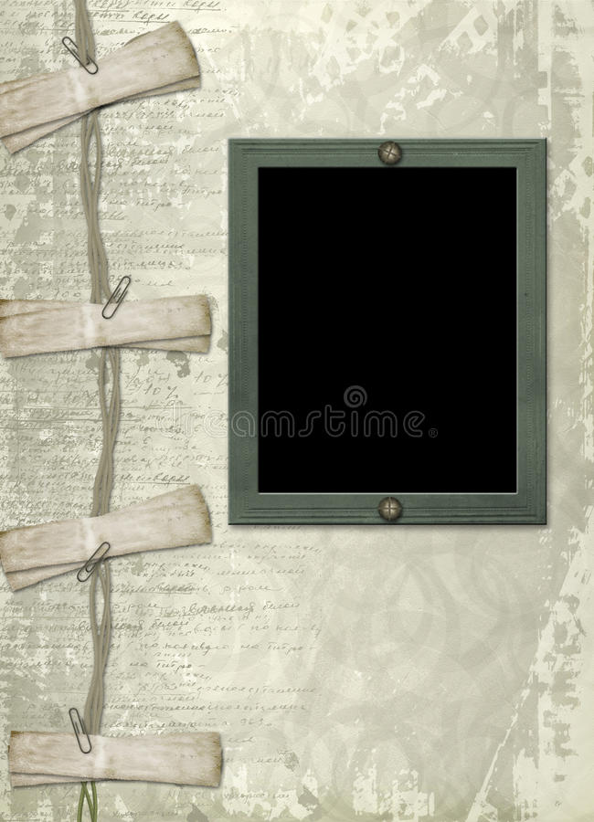 Download Grunge Papers Design In Scrapbooking Style Stock Illustration - Image: 13267933