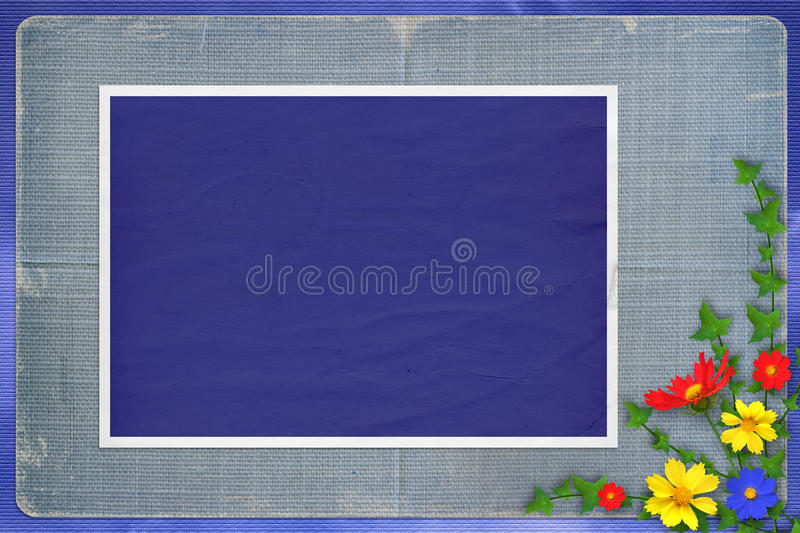 Grunge papers design in scrapbooking style royalty free illustration