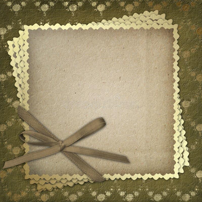 Grunge Papier für die Einladung stock abbildung