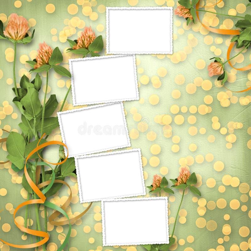 Grunge Papier mit Bündel des Klees vektor abbildung