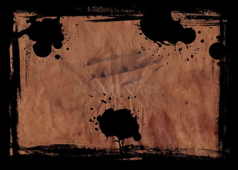 Grunge Papier mit Rand stock abbildung