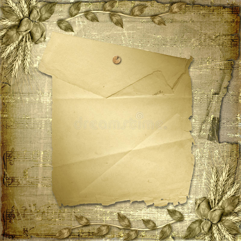 Grunge Papier in scrapbooking Art mit Bündel stock abbildung
