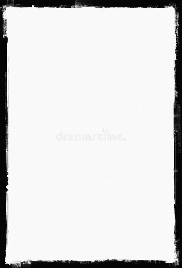 Grunge Papierfeld, grunge Rand lizenzfreie abbildung