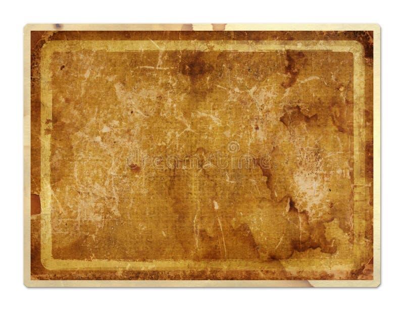 Grunge papierowa karta w scrapbooking stylu ilustracji