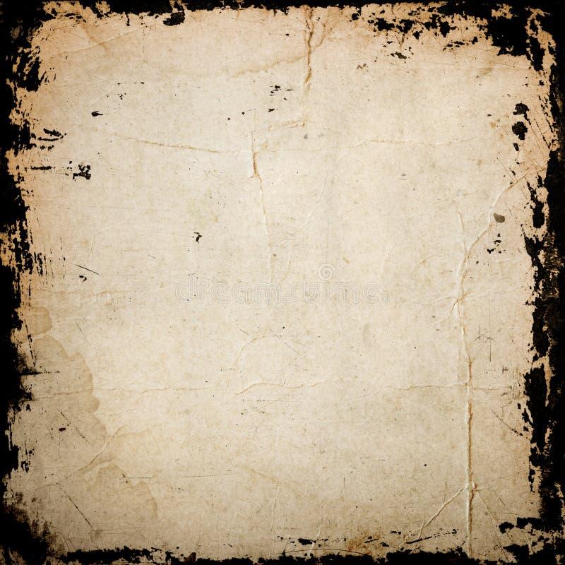 Grunge papierowa tekstura, granica i tło, royalty ilustracja