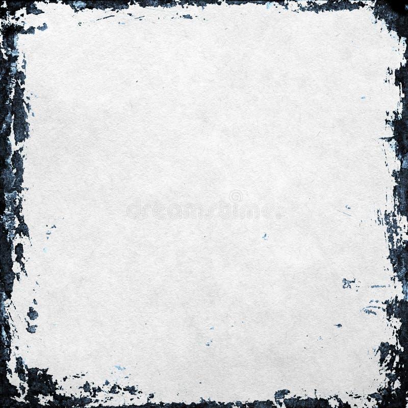 Grunge papierowa tekstura, granica i tło, ilustracji