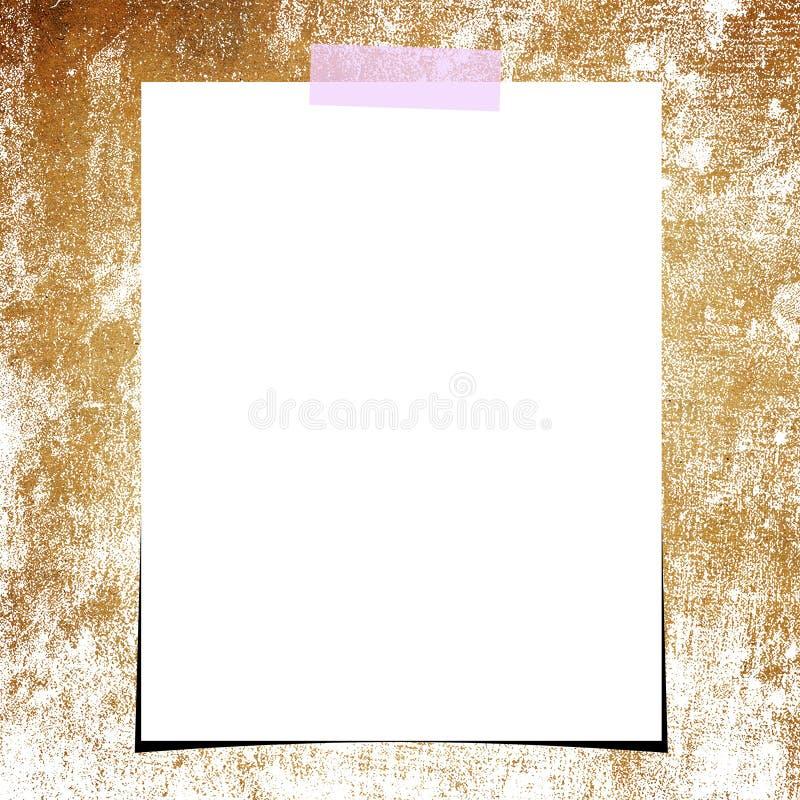 Grunge papierowy i pusty fotografii tło ilustracji