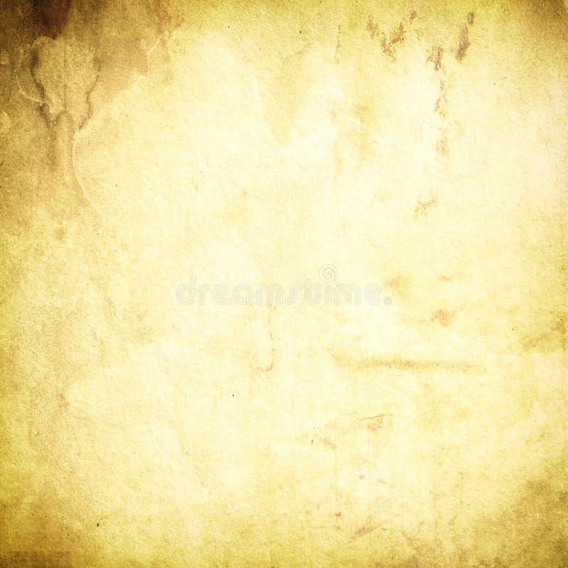 Grunge papierowy tło, beż, brąz, stary, rocznik szorstki, retro, antykwarski, pusty, plami, plamy, papierowa tekstura royalty ilustracja