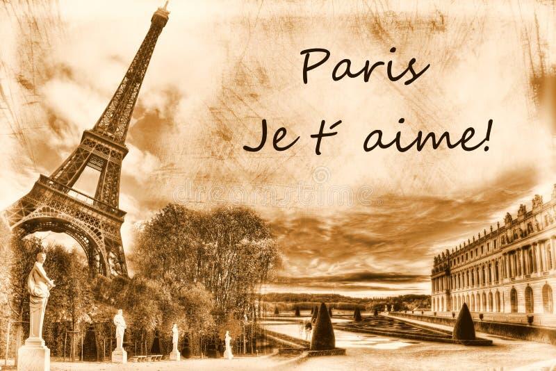 Download Grunge Paris stock image. Image of love, european, page - 16958697