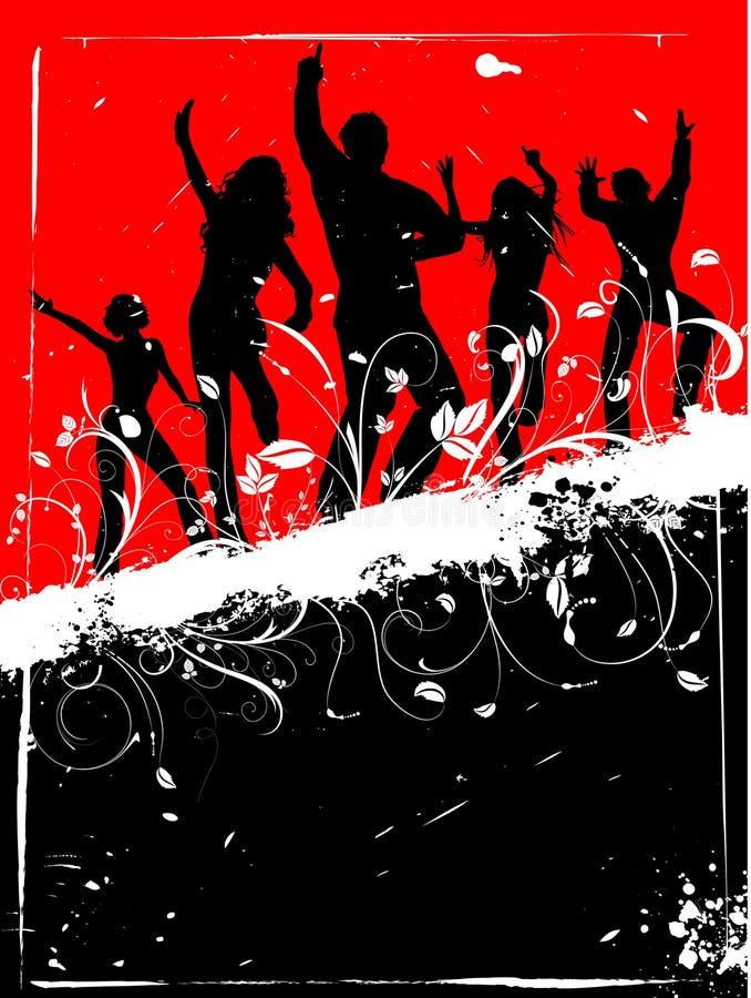 Grunge party royalty free illustration