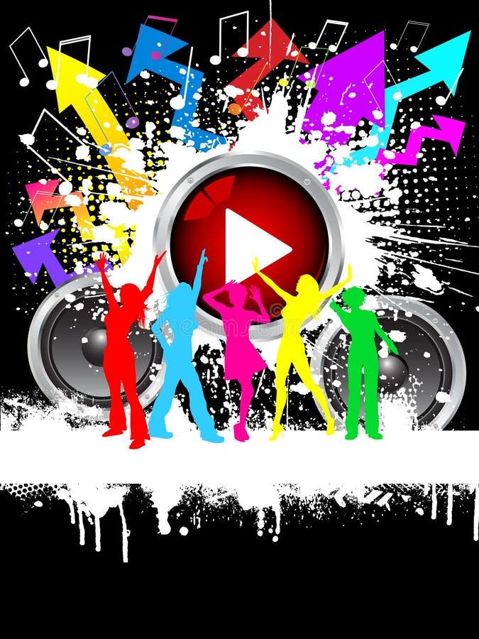 Grunge Party vektor abbildung