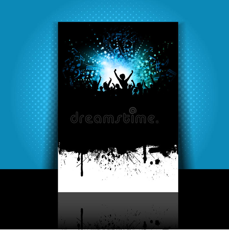 Download Grunge party flyer layout stock vector. Image of disco - 25076128