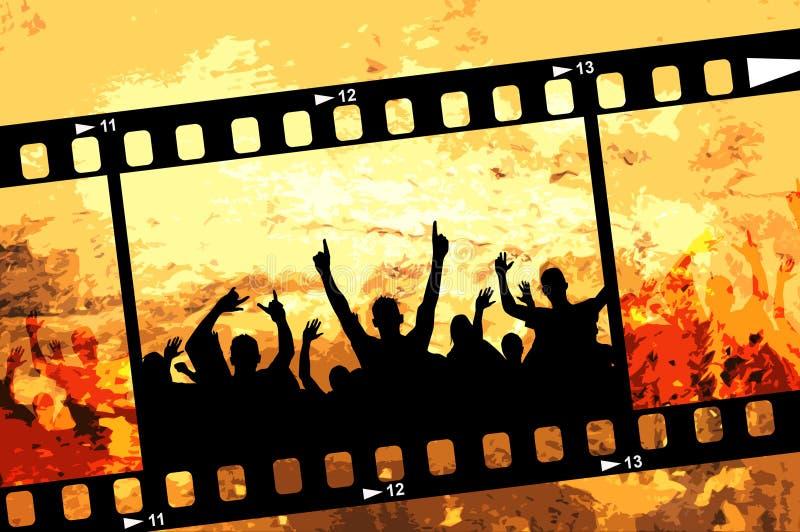 Grunge Partyfeld stock abbildung
