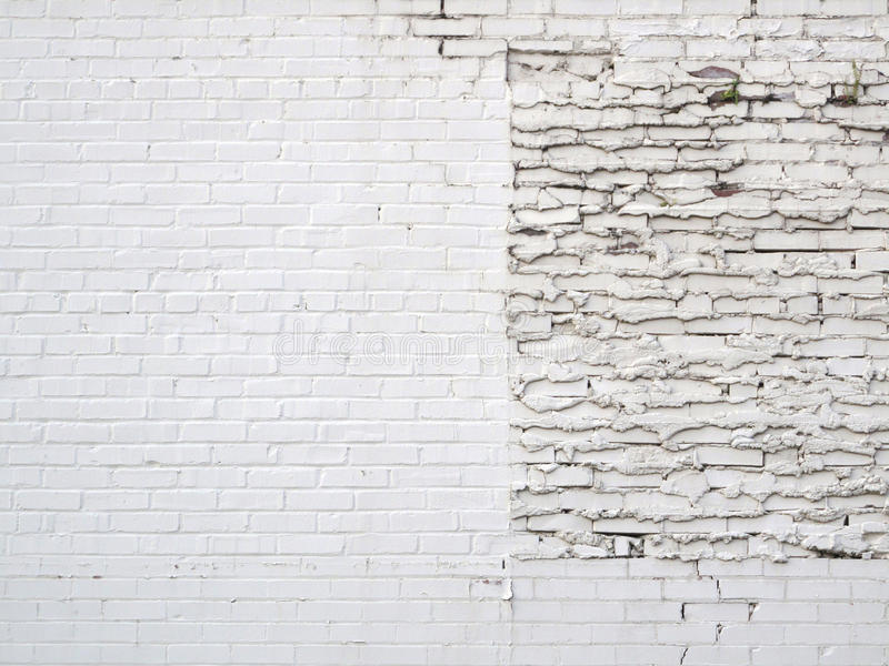 Grunge Patch White Brick Wall. stock images