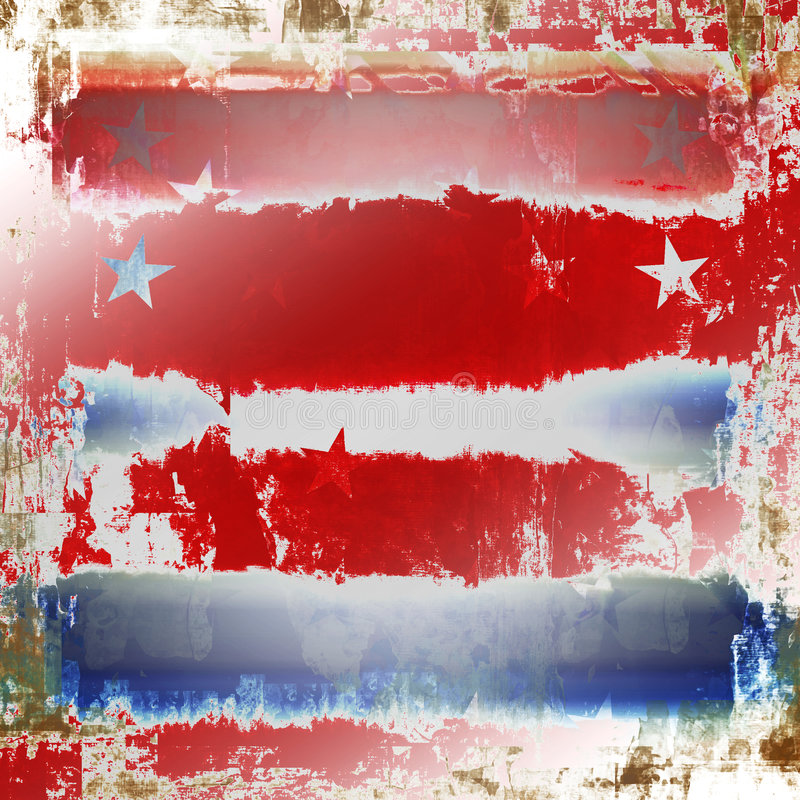 Grunge patriótico ilustração royalty free
