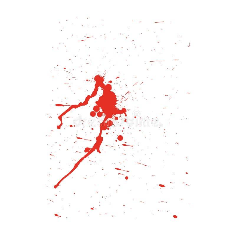 Grunge pattern. Color on white. Vector illustration stock illustration