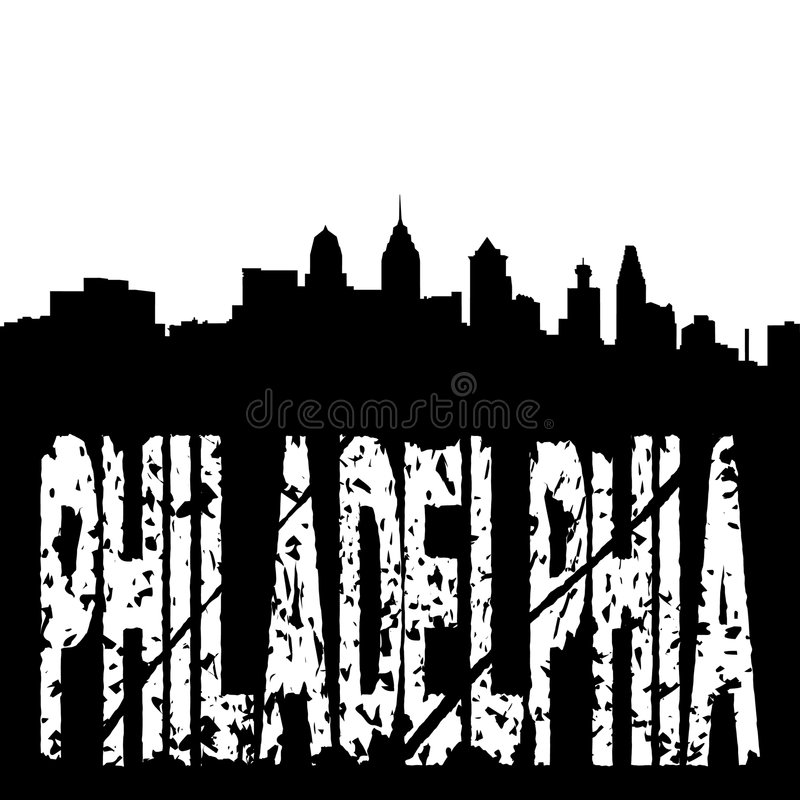 Download Grunge Philadelphia With Skyline Stock Photography - Image: 8558572