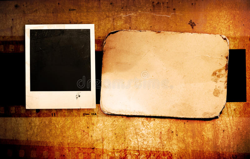 Grunge photo frame stock photography