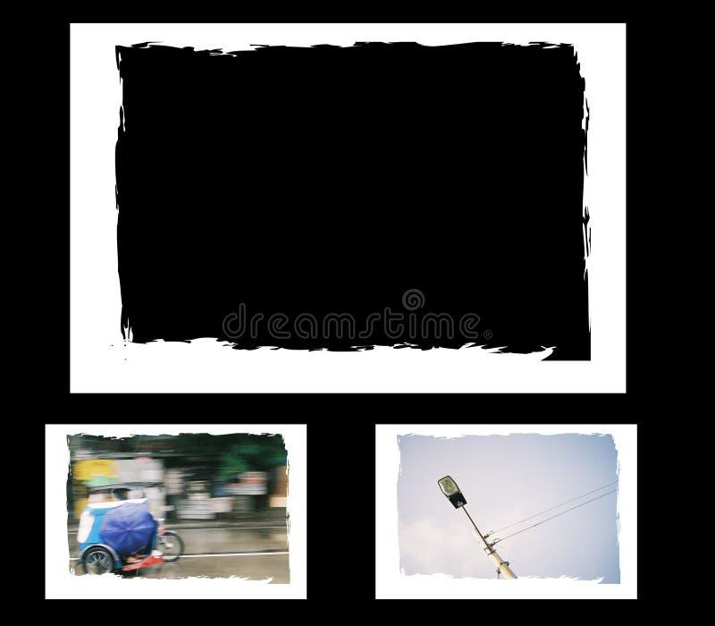 Grunge photo frame, border royalty free illustration