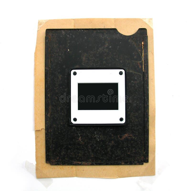 Grunge photo frame - isolated royalty free stock photo