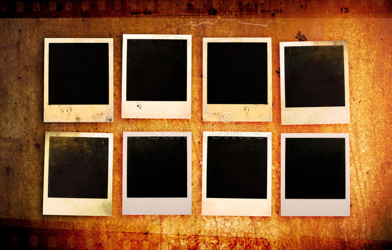 Grunge photo frames stock images