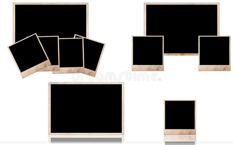 Grunge photo frames royalty free stock images