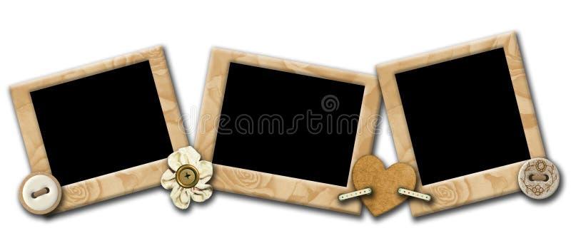Grunge photo frameworks in a retro style stock illustration