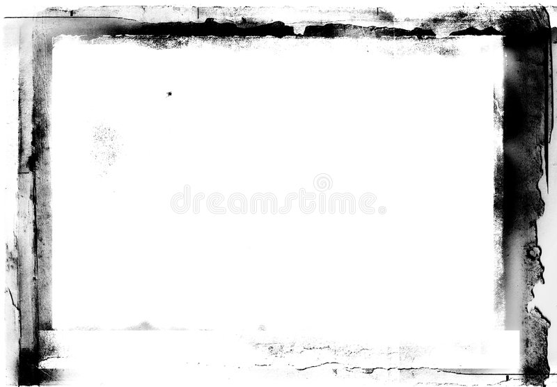 Grunge photographic frame. Grunge black and white frame for photo editing royalty free stock images