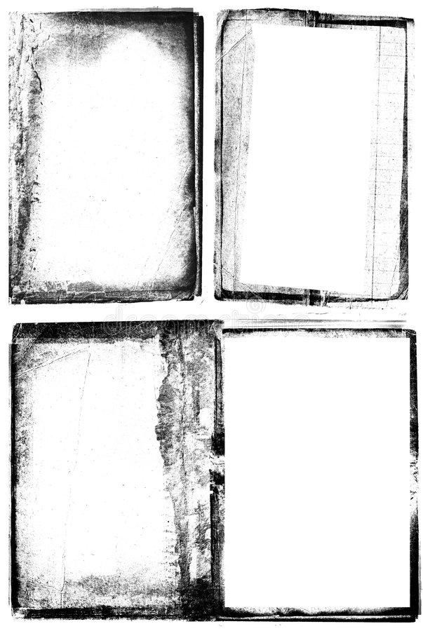 Grunge photographic frames royalty free stock photos