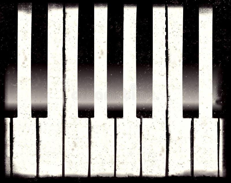 Grunge piano vector illustration