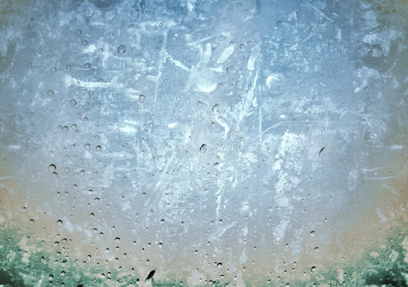 Grunge picture of drops on a transparent surface royalty free stock images